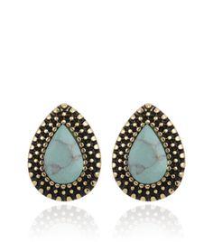 Image of Samantha Wills Endless Love Stud Earrings - Lagoon Turquoise