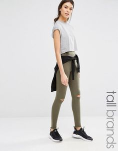 d2ce36037a391d Missguided Tall Ripped Knee Leggings at asos.com