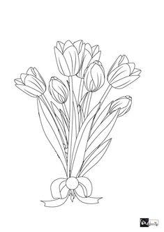 Die 8 Besten Bilder Von Blumen Vorlage Draw Free Coloring Pages