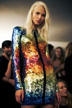 Sasha Luss backstage at Emilio Pucci Spring/Summer 2014 by Lea...