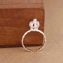925 - серебристо-ювелирные императорская корона хвост кольцом подарок простой регулируемый гипоаллергенный кольцо бесплатная доставка никель - бесплатная(China (Mainland))