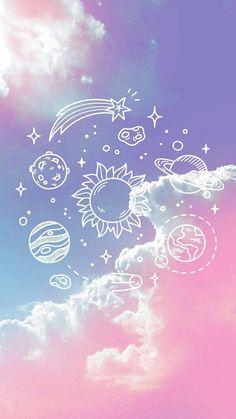 Imagem de wallpaper, pink, and planet