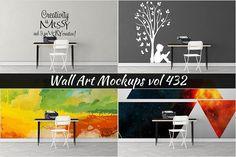 Wall Mockup - Sticker Mockup Vol 432 by Creative Interiors on @creativemarket