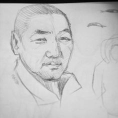 #minicosmicgirl #dad #father #face #portrait #sketch #draw #drawing #pencil #personage #character #people #asian #man