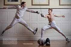 Photography by Iris Brosch  Olympic Fencers: Tim Morehouse and Race Imboden