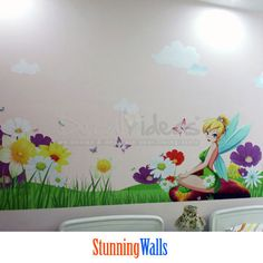 Tinkerbell Printed Wall Decal Sticker  Removable  by Decalideas StunningWalls, $199.00