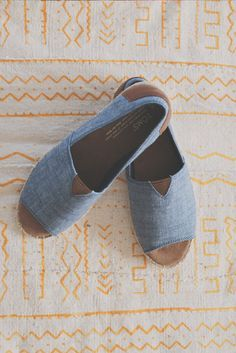 Show a little toe in the new TOMS Open Toe Alpargatas.