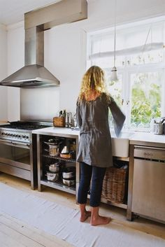 Love the stainless steel kitchen!