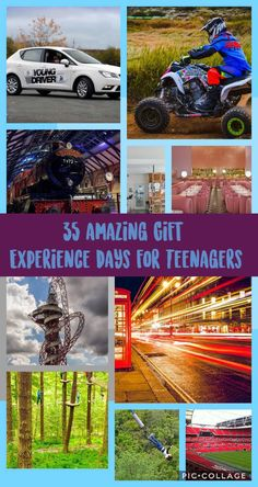 35 Experience Days for Teenagers - The Ultimate Guide - SortingOutYourLIfe. Gifts For Teen Boys, Gifts For Teens, Top Attractions In London, Survival Courses, Indoor Skydiving, Flying Lessons, Teen Guy, Air Balloon Rides, Experience Gifts