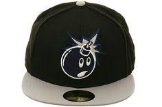 The Hundreds Adam Bomb Fitted Hat by New Era The Hundreds, Black And Grey, Baseball Hats, Fitness, Fashion, Moda, Baseball Caps, Fashion Styles, Caps Hats