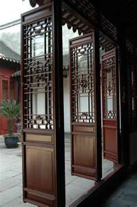 """""""Typical Chinese door"""". I love stained and carved wood details."""