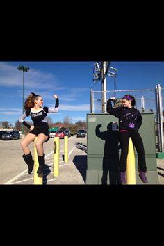 cheer comp...two friends having fun...York pa