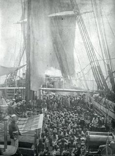 Atlantic slave trade boats..