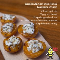 Grilled Apricots with Honey Lavender Drizzle