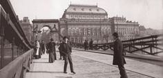 Prague, National Theatre in 1890 Old Pictures, Old Photos, Prague Guide, Prague Photos, Prague Czech Republic, Heart Of Europe, Old Photography, Magic City, National Theatre