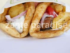 There's no reason not to enjoy your favorite gyros or lunch recipe with gluten-free pita bread. A few simple gluten substitutions will make a pita bread . Gluten Free Bakery, Gluten Free Cooking, Gluten Free Recipes, Cooking Recipes, Pita Recipes, Greek Recipes, Foods With Gluten, Sans Gluten, Gluten Free Pita Bread
