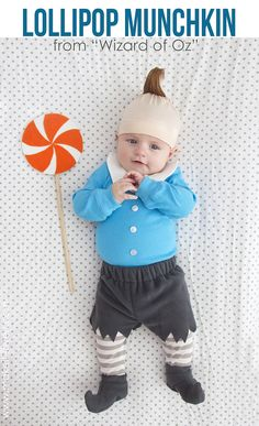 diy lollipop munchkin costume from wizard of oz via make it twins halloween costumesdiy baby - Monsters Inc Baby Halloween Costumes