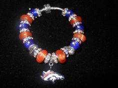 Denver Broncos Handcrated European Charm by BaublesnCharms on Etsy, $45.00