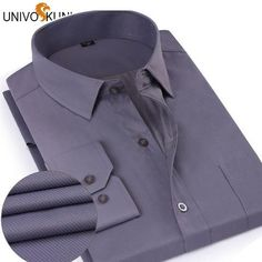 UNIVOS KUNI Long Sleeve Mens Dress Shirts Spring New 5XL Male Business Slim Fit Camisa Social Masculina Brand Clothing Z2132