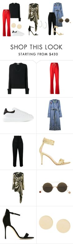"""Essentials: Best of SS17"" by farfetch ❤ liked on Polyvore featuring Helmut Lang, MM6 Maison Margiela, Alexander McQueen, Off-White, Jacquemus, Gianvito Rossi, Yves Saint Laurent, Ahlem, Sergio Rossi and Givenchy"