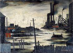 L.S. Lowry River Scene (Industrial Landscape) 1935