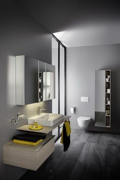 Bathroom design by Laufen Minimalist Bathroom, Minimalist Decor, Bathroom Modern, Bathroom Sets, Bathroom Storage, Bathroom Tiling, Nottingham, Laufen Bathrooms, Derby
