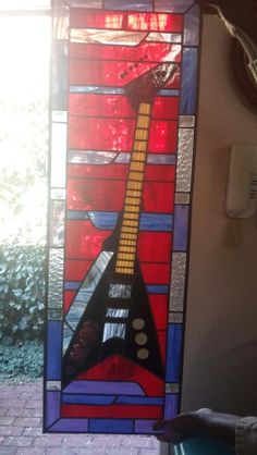 Stained glass music panel by Jeanne of Creative Stained Glass