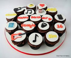 16 th Birthday cupcakes | by small town girl bakery https://www.djs.durban https://www.djpeter.co.za