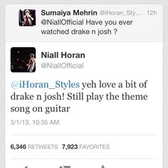 No way, that theme song is my favorite theme song EVER! NIALL JUST GETS BETTER AND BETTER! (I love you Niall!)