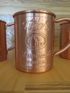Tito's copper mug, perfect for your Moscow Mule
