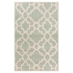 Anchor vibrant decor or add a pop of pattern to neutral rooms with this hand-tufted New Zealand wool rug, highlighted by a classic lattice motif.  ...
