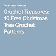 Filet crochet letter pattern free crochet patterns crochet crochet treasures 10 free christmas tree crochet patterns thecheapjerseys Images