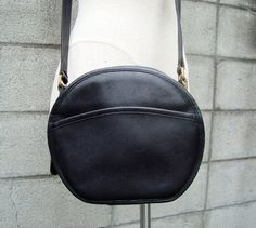 Black Coach Purse Vintage 1980s Leather by purevintageclothing