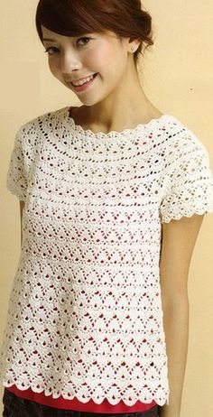 Crochet Top - Free Crochet Diagram - (laduska)