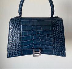 Pinterest @sarstephenn Balenciaga Bag, Cute Handbags, Models Off Duty, Luxury Bags, Birkin, My Favorite Color, Body Bag, Shades Of Blue, Bag Accessories