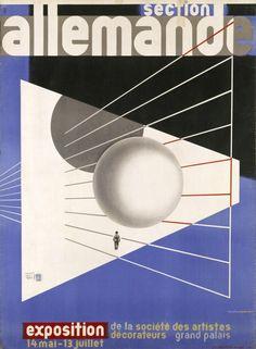 Printed poster, design by Herbert Beyer, 1930