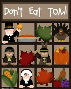 What a cute Thanksgiving game.  PDF included