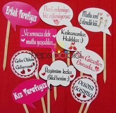 Konuşma balonları pankart- henna nights events organization wedding engagement details-  düğün nişan kına doğum günü bridal shower bekarlığa veda  bridemaids