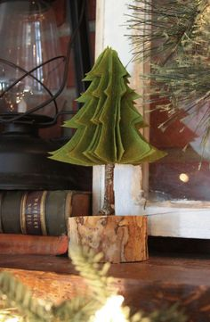 DIY Rustic Felt Christmas Tree