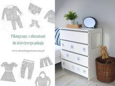 Piktogramy z ubraniami do pokoju dziecięcego - Domologia StosowanaDomologia Stosowana