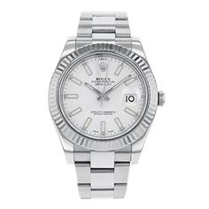 awesome Rolex Datejust II 116334 WIO 18K White Gold & Steel Automatic Men's Watch just added...