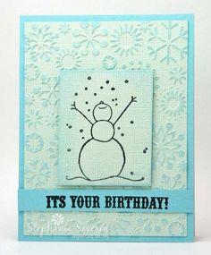 Snow birthday card by Stephanie Severin