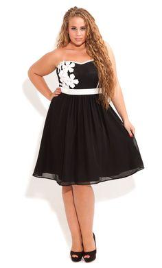 City Chic - CORSAGE COLLIE DRESS - Women's plus size fashion