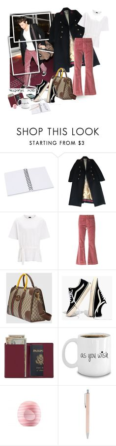 """Only Angel"" by vespagirl ❤ liked on Polyvore featuring Gucci, Joseph, The Seafarer, Madewell, Royce Leather, Eos, Forever 21, harrystyles, gucci and statementbags"