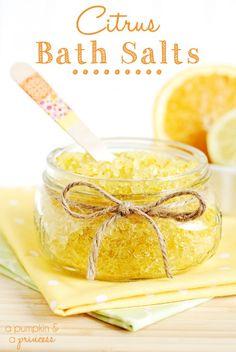 Cute crafty website: Shelterness. How To Make Citrus Bath Salts