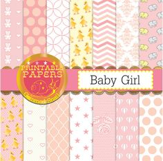 Baby girl digital paper it's a girl baby pink by GemmedSnail  https://www.etsy.com/listing/199291766/baby-girl-digital-paper-its-a-girl-baby?ref=shop_home_active_22