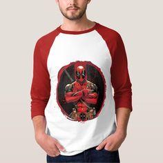 Deadpool in Paint Splatter Logo T-shirt
