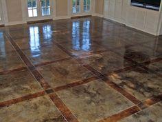 Staining concrete floors