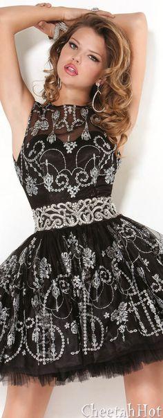 JOVANI - Authentic Designer Dress - Cute Tulle Cocktail Dress