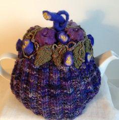 Enchanted Garden Purple Tea Cosy